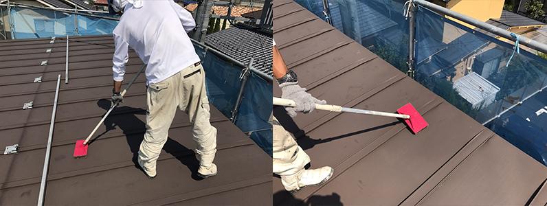 長野市A様邸屋根・外壁塗装工事・屋根ケレン処理
