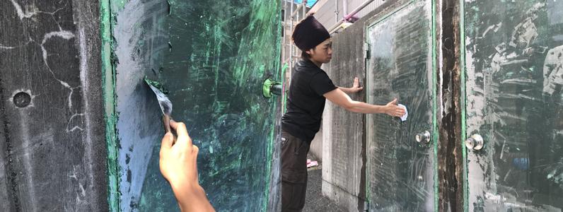 ゴミステーション塗装①