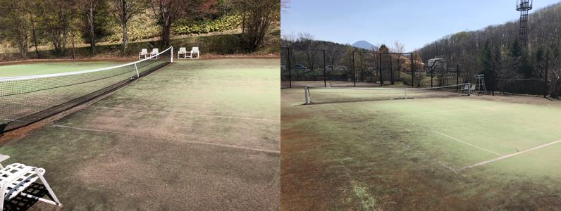 人工芝の汚れ