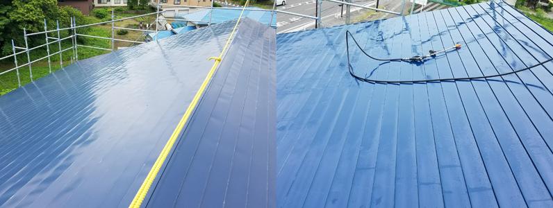 金属屋根塗装①