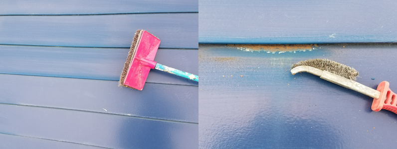 金属屋根塗装②