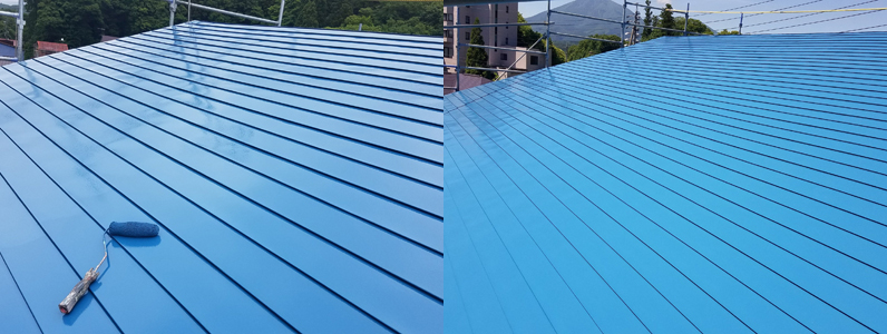 金属屋根塗装④